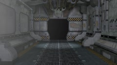 Pull Back Thru A 3D Model Of Science Fiction Tunnel Stock Footage