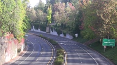 highway in the foothills - stock footage