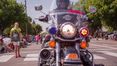 American Fork Parade Motorcycle Police Stock Footage