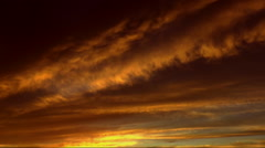 Sunset Streaks Time Lapse - stock footage