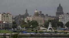Skyline of Old Havana - stock footage