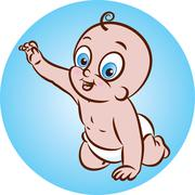 Happy baby Stock Illustration