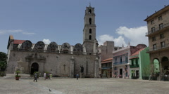 Convento de San Francisco de Asís in Cuba Stock Footage