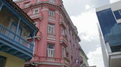 Old City Street of Havana Stock Footage