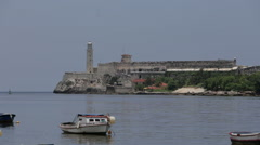 Old Spanish Fort in Havana Stock Footage