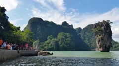 Thailand Phang-Nga Bay - James Bond Island Stock Footage