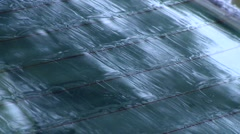Winter - Car - Rear Window Defrosting Close Up - stock footage