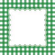 Green and white gingham frame Stock Illustration