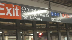 PORT AUTHORITY Exit - stock footage