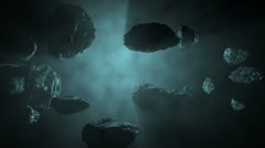 Blue Asteroid Field Stock Footage