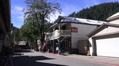 Historic gold mining town, mountain high Stock Footage