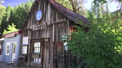 Downieville, historic gold mining town Stock Footage
