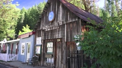 Small town Downieville, CA Stock Footage