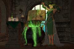 Witch cauldron Stock Illustration