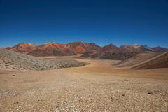 Colourful Mountains of the Chilean Atacama - stock photo