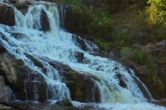 Magnificent cascade waterfall in the woods. Beautiful landscape, click for HD Stock Footage