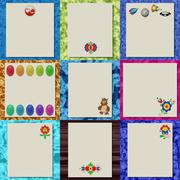 Set of writing paper textures Stock Illustration