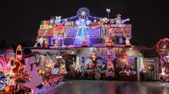 Christmas lights - stock footage