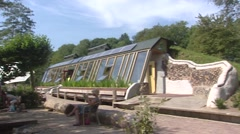 Earthship education facility & tea house ZWOLLE, THE NETHERLANDS Stock Footage