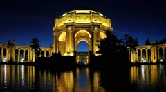 Palace of Fine Arts - San Francisco, CA - Time Lapse Zooming Out Stock Footage