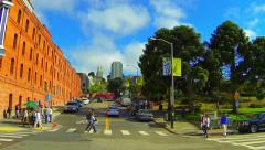 Hyde Street, San Francisco Timelapse - Panning Left Stock Footage