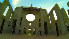 Church Ruins - Winnipeg, MB Canada - Timelapse Panning Left Stock Footage