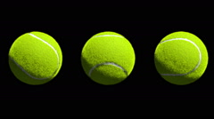 3 Different rotations of Tennis Balls. Stock Footage