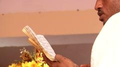 Prayer Eritrean priest - stock footage