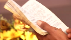 Prayer Eritrean priest Stock Footage