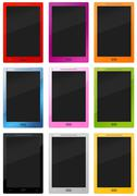 Many colorful stylish tablet - pc Stock Illustration