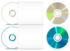 Stock Illustration of cd - dvd paper set