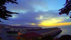 San Francisco Bay Golden Gate Bridge Fort Mason Time-Lapse Panning Left Stock Footage