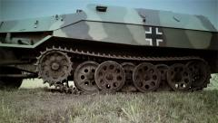 German Half-track | Profile | World War 2 Stock Footage