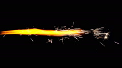 Torch of Fireworks on Black Background - stock footage