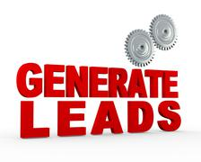 Stock Illustration of 3d gear - generate leads