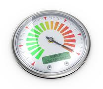 3d maximum download speed meter guage - stock illustration