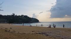 Thailand Phuket - Karon Beach Stock Footage