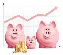 Family savings - stock illustration