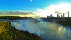 Niagra Falls NY Waterfall Time-Lapse - Panning Right - stock footage