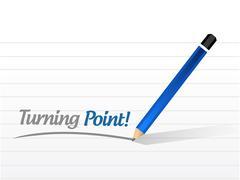 turning point sign illustration design - stock illustration