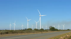 Wind Turbines, Western Cape, South Africa 3 Stock Footage