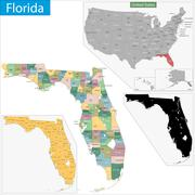 Florida map Stock Illustration