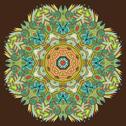 Stock Illustration of Circle lace ornament, round ornamental geometric doily pattern