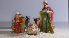 Holy Family in the tradition of Christmas Stock Footage