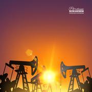 Oil pump - stock illustration