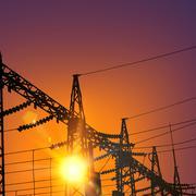 Electrical Transmission Line Stock Illustration