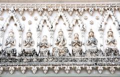 Thai temple antique archway at petchaburi,thailand Stock Photos