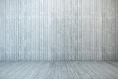 Empty wooden room Stock Illustration