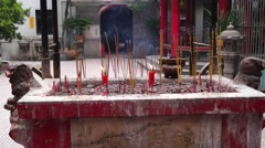 Temple to burn incense to worship the Buddha Stock Footage