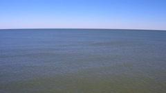 Empty vast Atlantic Ocean on a sunny day Stock Footage